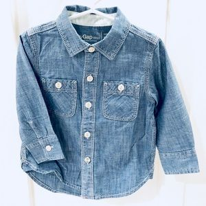 Gap denim shirt- 18-24 mo., excellent condition!